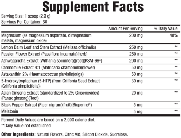 harmonium sleep support ingredients