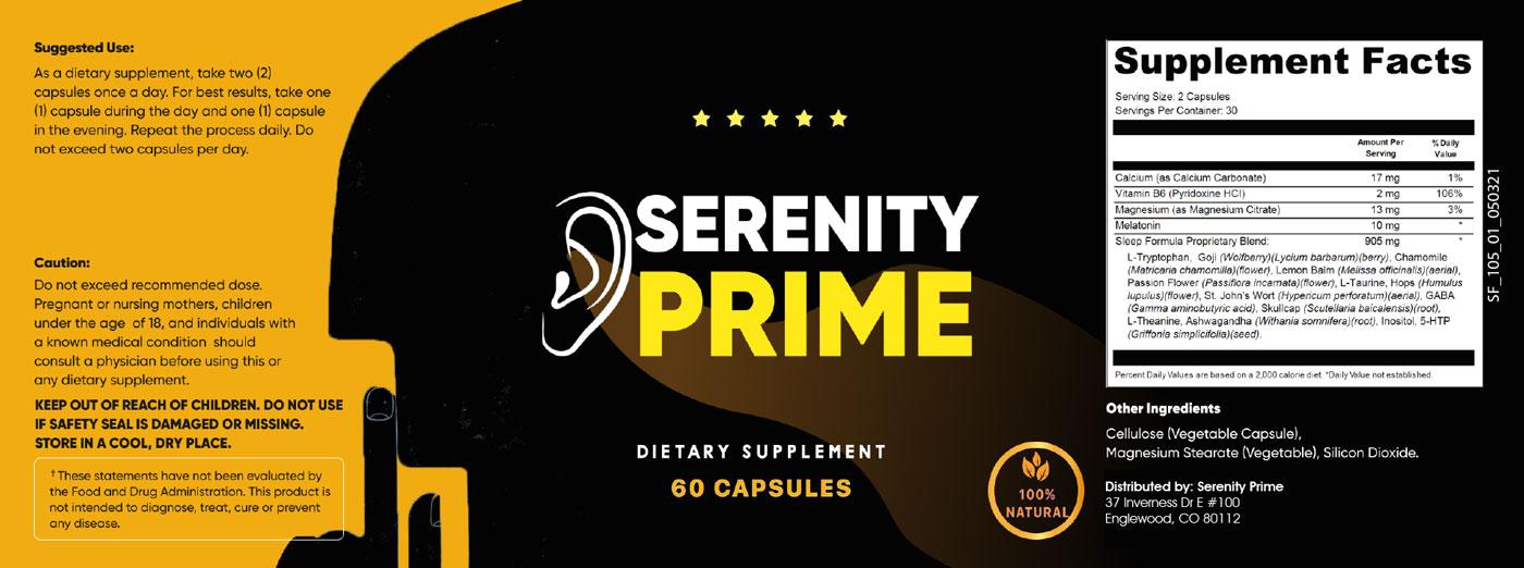 Serenity Prime Ingredients