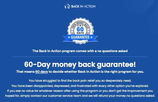 The Complete Back Pain Relief Program Testimonials