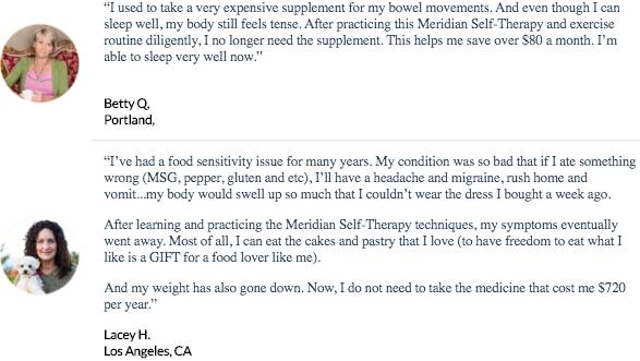 Meridian Health Protocol testimonials