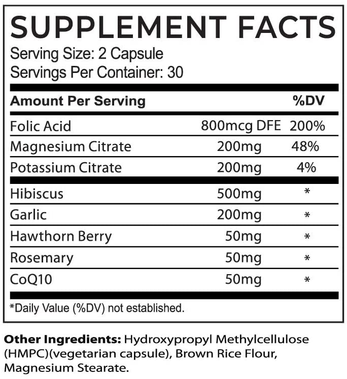 Circula BP Supplement Facts