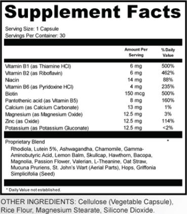Clear Sound 911 Ingredients