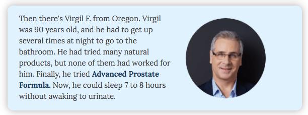 Advanced Prostate Formula Testimonials