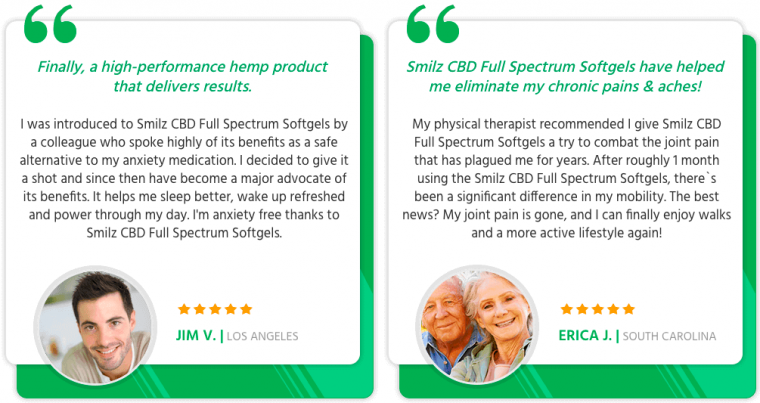 Smilz CBD Full Spectrum Softgels Reviews Review