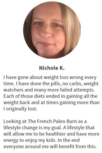 The French Paleo Burn Customer Reviews